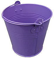 """Ведро декоративное 2 литра оцинкованное фиолетовое порошковое покрытие RAL """"Метид"""", фото 1"""