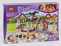 Конструктор Городской бассейн для девочек, аналог Лего, 422 детали. Детский игровой набор