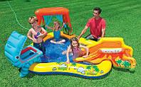 """Детский надувной игровой центр бассейн Intex 57444 """"Динозавры"""" 249 см х 191 см х 109 см"""