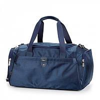 Сумка багажная дорожная синяя спортивная большая тканевая надежная через плечо Dolly 788 размер 53х29х28см