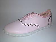 Кеды мокасины, спортивные женские маломеркие размер 37,38 цвет розовый