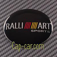 Наклейки для дисків з емблемою Ralli Art Mitsubishi. 56мм. ( Мітсубісі ) Ціна вказана за комплект з 4-х штук