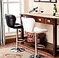 """Барний стілець Hoker з поворотом сидіння 360 градусів і підставкою для ніг """"Чорний/Білий, фото 2"""