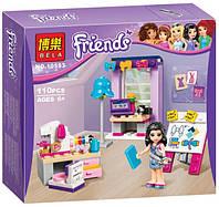 Конструктор Bela Friends 10553 Творческая мастерская Ателье Эммы ( аналог Lego Friends 41115))