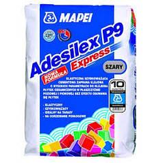 Клей для плитки швидкосхоплюючий Мареі Adesilex P9 Express / сірий / 25 кг
