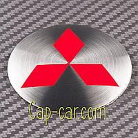 Наклейки для дисков с эмблемой  Mitsubishi. 56мм. ( Митсубиси ) Цена указана за комплект из 4-х штук