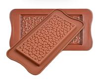 Силиконовая форма для шоколада Шоколадная плитка Сердечки
