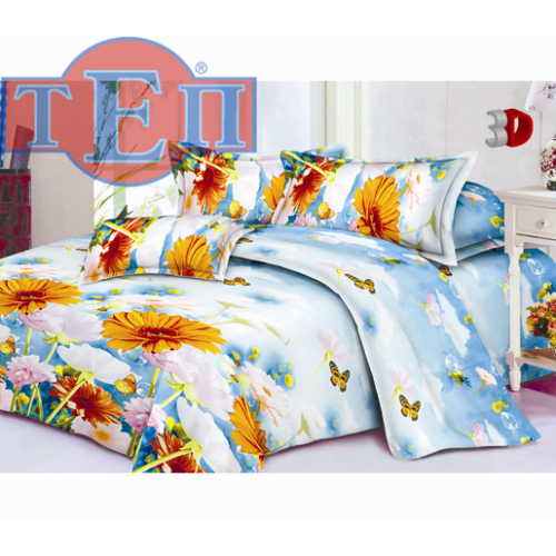 Качественное постельное белье ТЕП  RestLine 104  «Гербарий» 3D дешево от производителя.