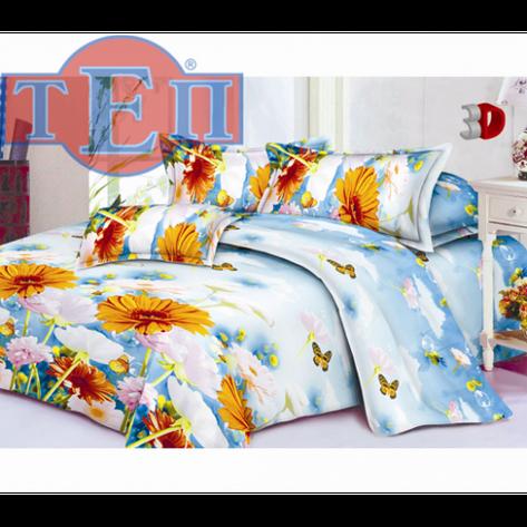 Качественное постельное белье ТЕП  RestLine 104  «Гербарий» 3D дешево от производителя., фото 2