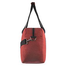 Дорожная сумка WALLABY бордовая 27х46х17 ткань полиэстер A44    в 2550бор, фото 3