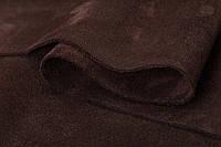 Натуральная кожа Велюр (спил-велюр), коричневый замш