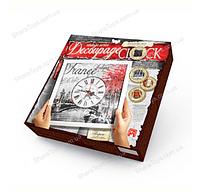 "Набор для творчества ""Часы Decoupage Clock"" с рамкой"