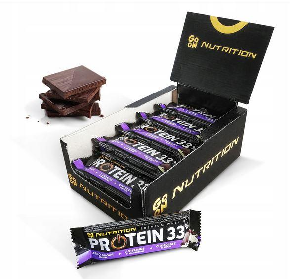 GO ON Nutrition Protein BAR 33% протеїновий батончик 12 шт x 50 грам (шоколад)