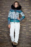 Женский лыжный костюм (куртка + полукомбез)