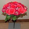 М-543 Роза 2 цвета с добавком 24 головы  40х8 см