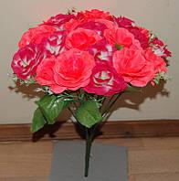 М-543 Роза 2 цвета с добавком 24 головы  40х8 см, фото 1