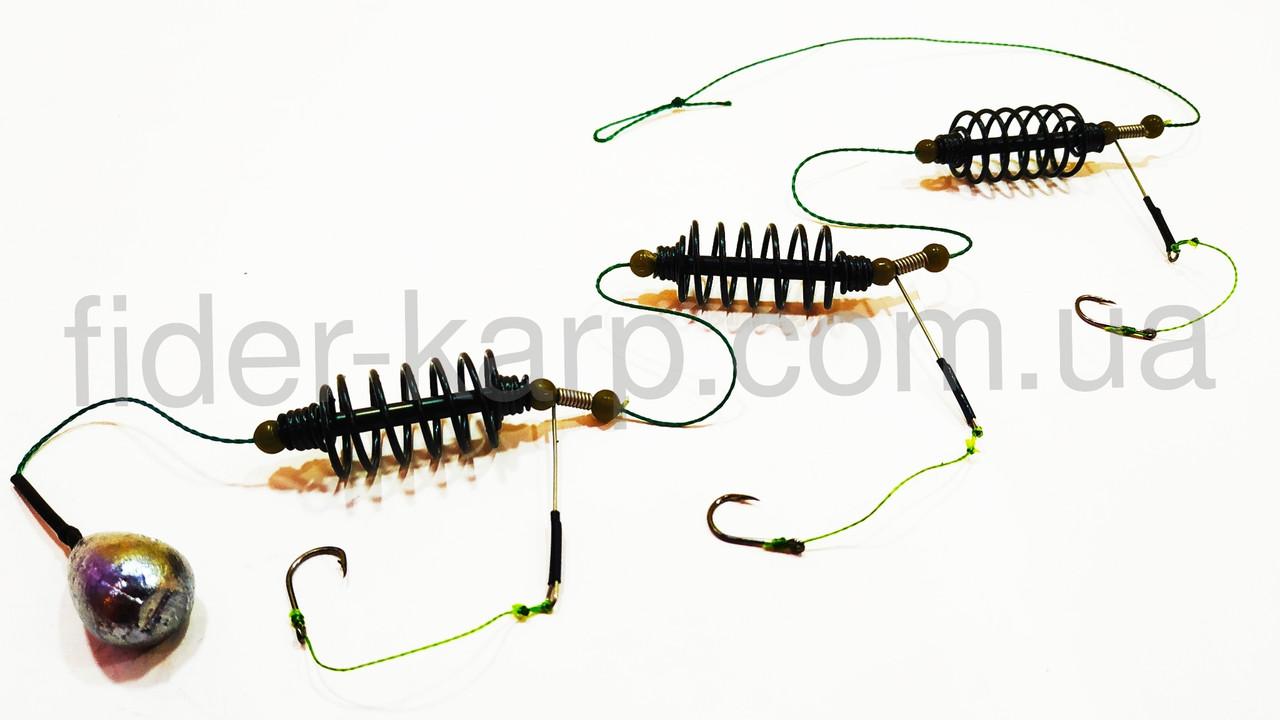 """Рыболовная кормушка """"Убийца карася"""" на стопорах с отводами (НЕРЖАВЕЙКА) , вес 20 грамм"""