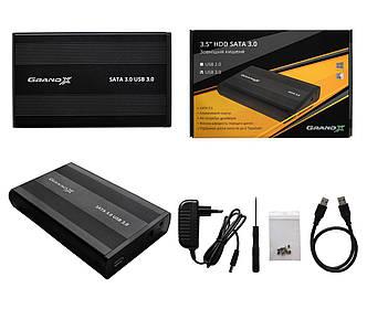Внешний карман Grand-X для HDD 3,5 USB 3,0 + БП 12V 2A (HDL-31)