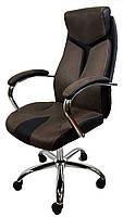 Офисное кресло на колесиках THOR BROWN OC206 компьютерное кресло черного цвета