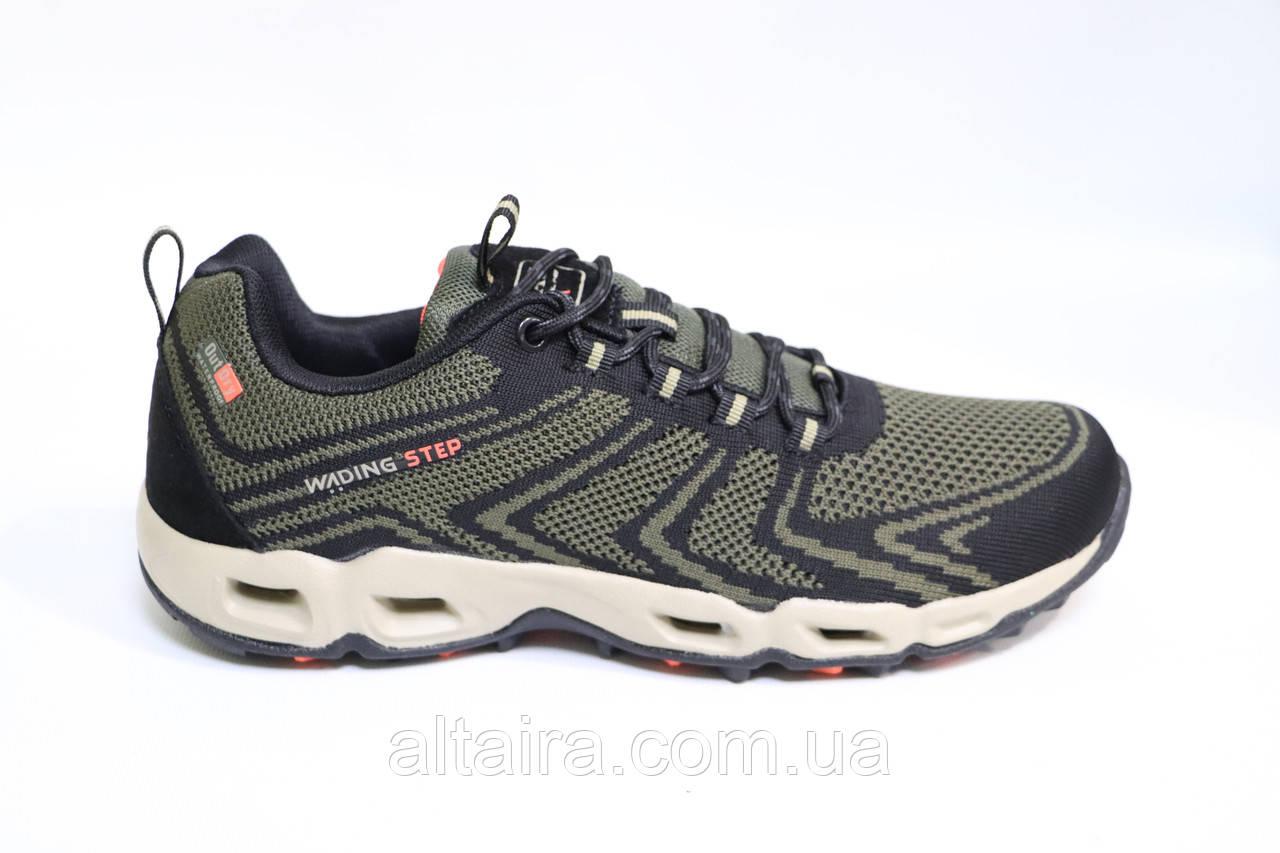 Мужские кроссовки зеленые сетка. Чоловічі кросівки сітка зелені. BAAS.