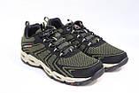 Мужские кроссовки зеленые сетка. Чоловічі кросівки сітка зелені. BAAS., фото 3