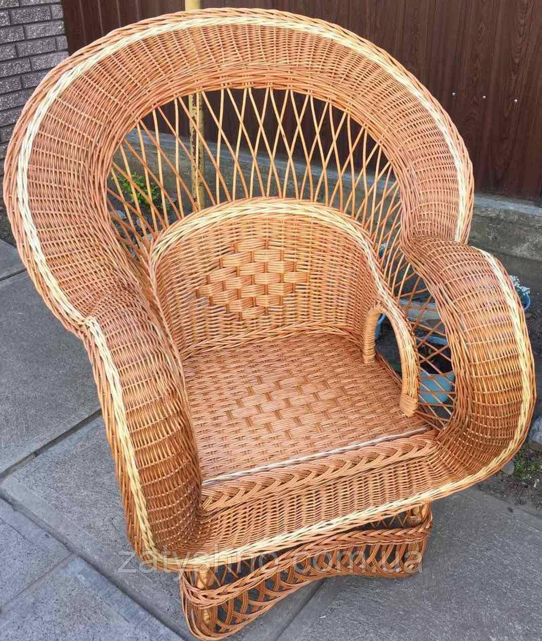 Кресло плетеное большое  | кресло из лозы огромное | кресло плетеное красивое
