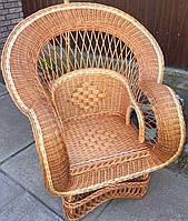 Кресло плетеное большое  | кресло из лозы огромное | кресло плетеное красивое, фото 1