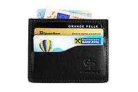 Кожаный кард-кейс Grande Pelle CardCase 305610 черный