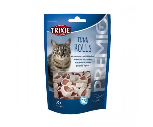 Лакомство для кошек и котят trixie PREMIO Tuna Rolls тунец 50г