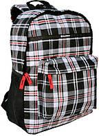 Рюкзак PASO в клетку 18 л Серый 14-016B, КОД: 298517