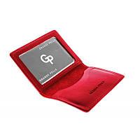 Кожаная Обложка на права,тех паспорт, удостоверение Grande Pelle 211160 красный (матовый)