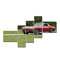 "Модульная картина на холсте ""Ретро Шевроле"" 1500х700мм, фото 1"