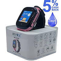 Детские водонепроницаемые GPS часы MYOX МХ-41GW фиолетовые (камера)