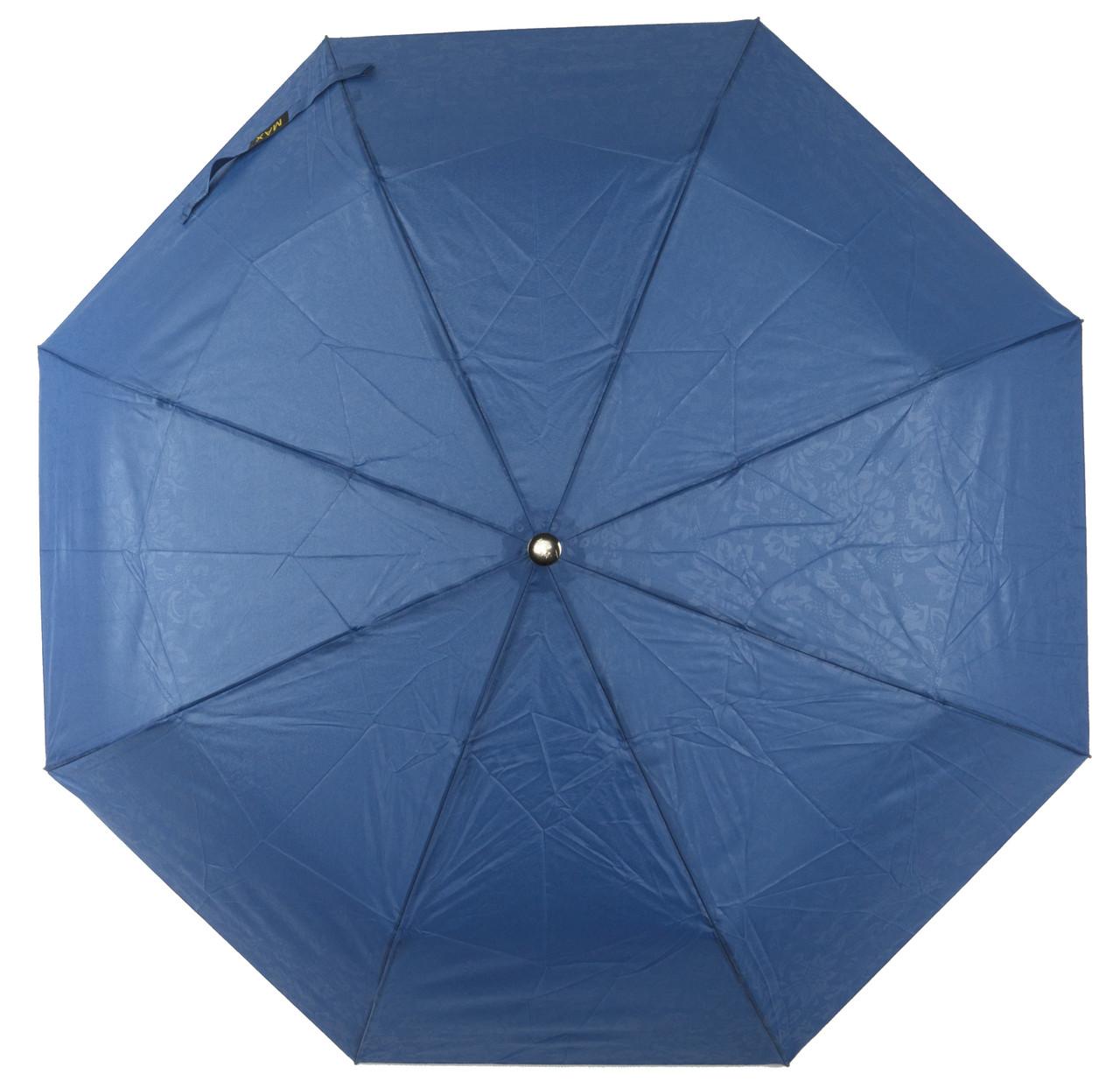 Женский красивый прочный зонтик полуавтомат с тисненым узором  MAX  art. 2050
