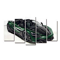 """Модульная картина на холсте """"Макларен"""" 1500х700мм"""