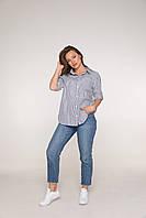 Рубашка в полоску из коттона для беременных 42-50 р