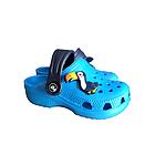 Дитячі українські легкі крокси з піни, блакитні з темно-синім сабо, фото 2