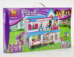 Конструктор Дом Стефани для девочек, 649 детали. Детский игровой набор