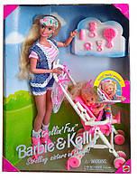 Ігровий набір лялька Барбі і Келлі Весела прогулянка Barbie and Kelly Strollin' Fun 1995 Mattel 13742