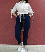 Женские брюки-чиносы из синего коттона, семь восьмых, мягкие и комфортные, весна-лето, повседневные, деловые