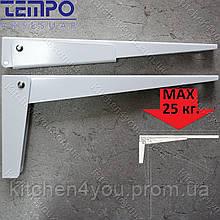 Консоль откидная Tempo 300 мм. белая, для раскладного стола.