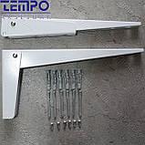 Консоль откидная Tempo 300 мм. белая, для раскладного стола., фото 2