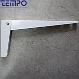Консоль откидная Tempo 300 мм. белая, для раскладного стола., фото 5