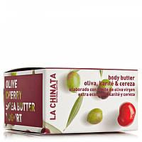 Крем - йогурт для тела с оливками, вишней, и маслом ши La Chinata