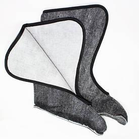 Зимние вставки в сапог высокие серые