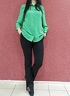 Женские классические брюки черные, офисные, прямые, полной длины,с высокой посадкой, деловые, нарядные