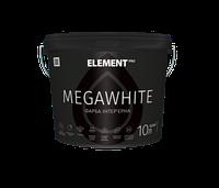 Інтер'єрна латексна фарба MEGAWHITE Element Pro интерьерная латексная краска, 10 л, в Днепре
