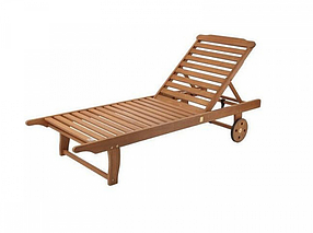 Шезлонг пляжный на колесиках / Мебель для отдыха
