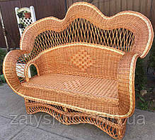 Плетений Диван на 3 | диван з лози для дачі | диван плетений з лози