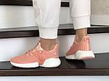 Модные женские кроссовки Adidas,текстиль,розовые, фото 2